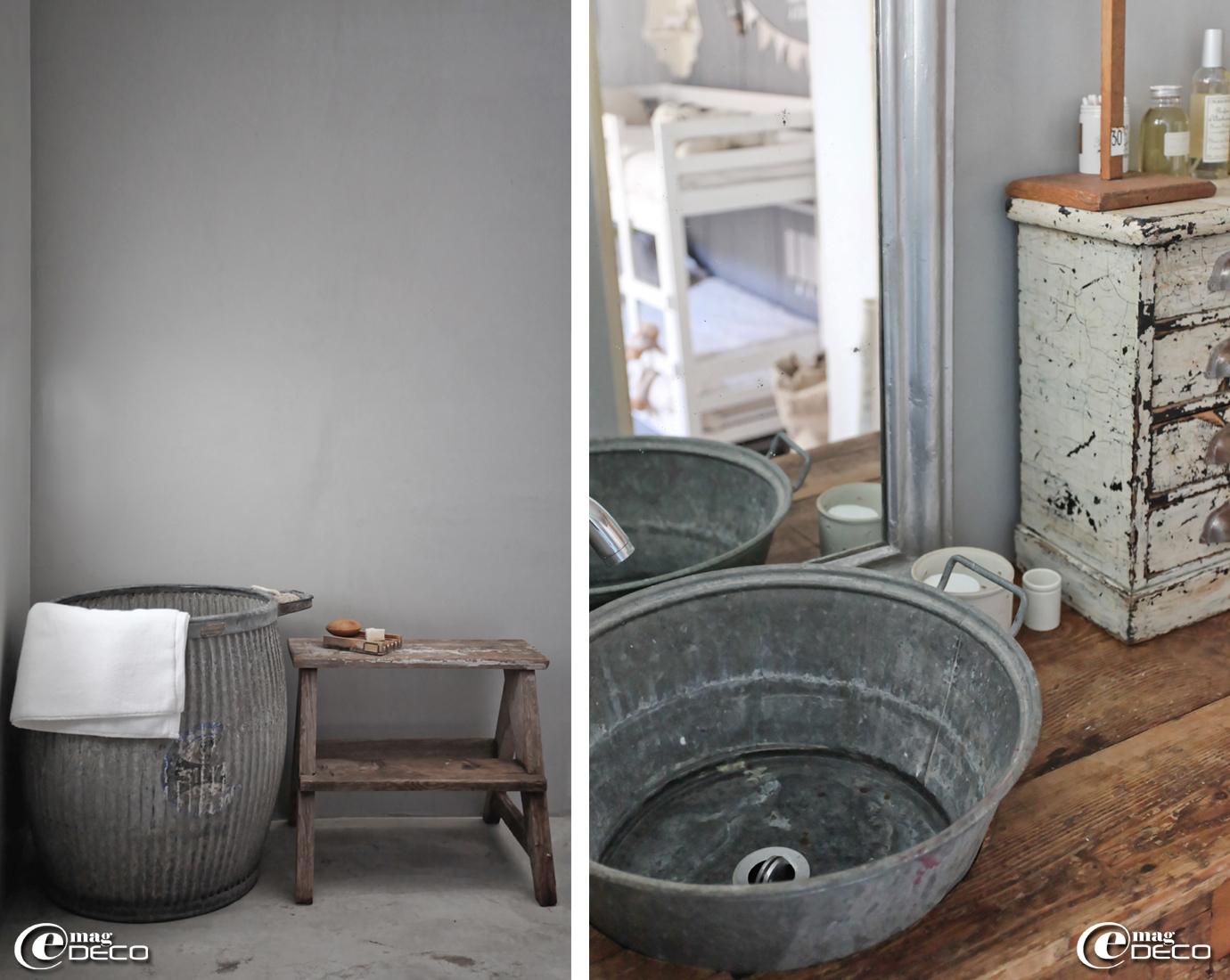 je fais quoi de mes objets en zinc label industrie. Black Bedroom Furniture Sets. Home Design Ideas