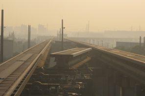 Pont ferroviaire tournant à Shanghai