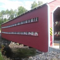 Pont couvert typique au Québec